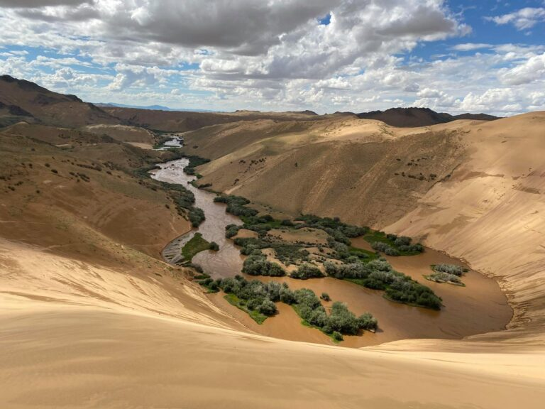 Mukhart River in western Mongolia
