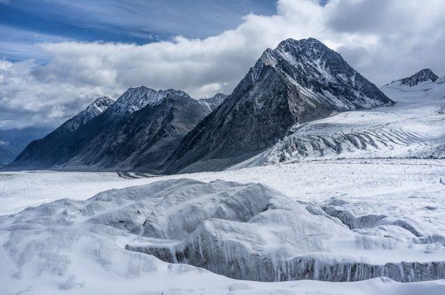 Potanin glacier in western Mongolia