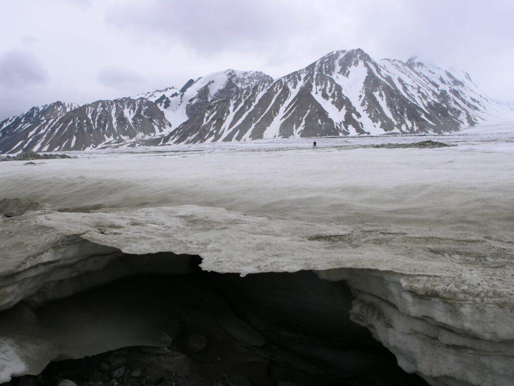 Potanin glacier in Mongolia