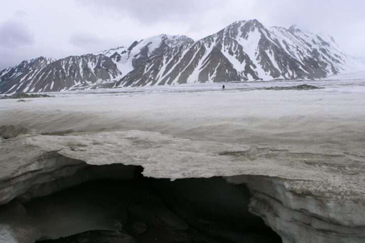 Potanin glacier in Mongolia