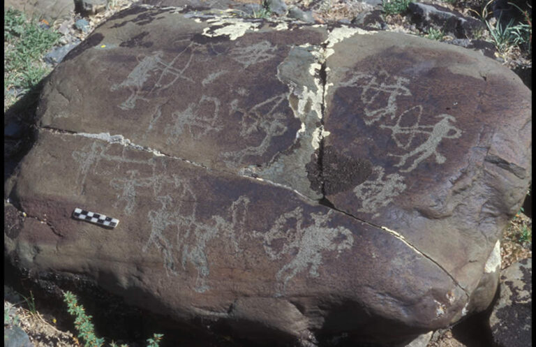 Rock arts ( Petroglyphs) in Mongolia
